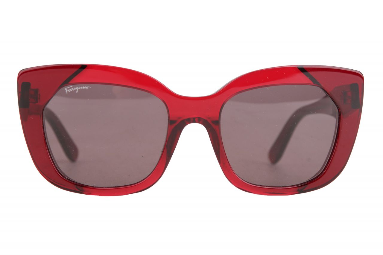 Salvatore Ferragamo Sonnenbrille Rot