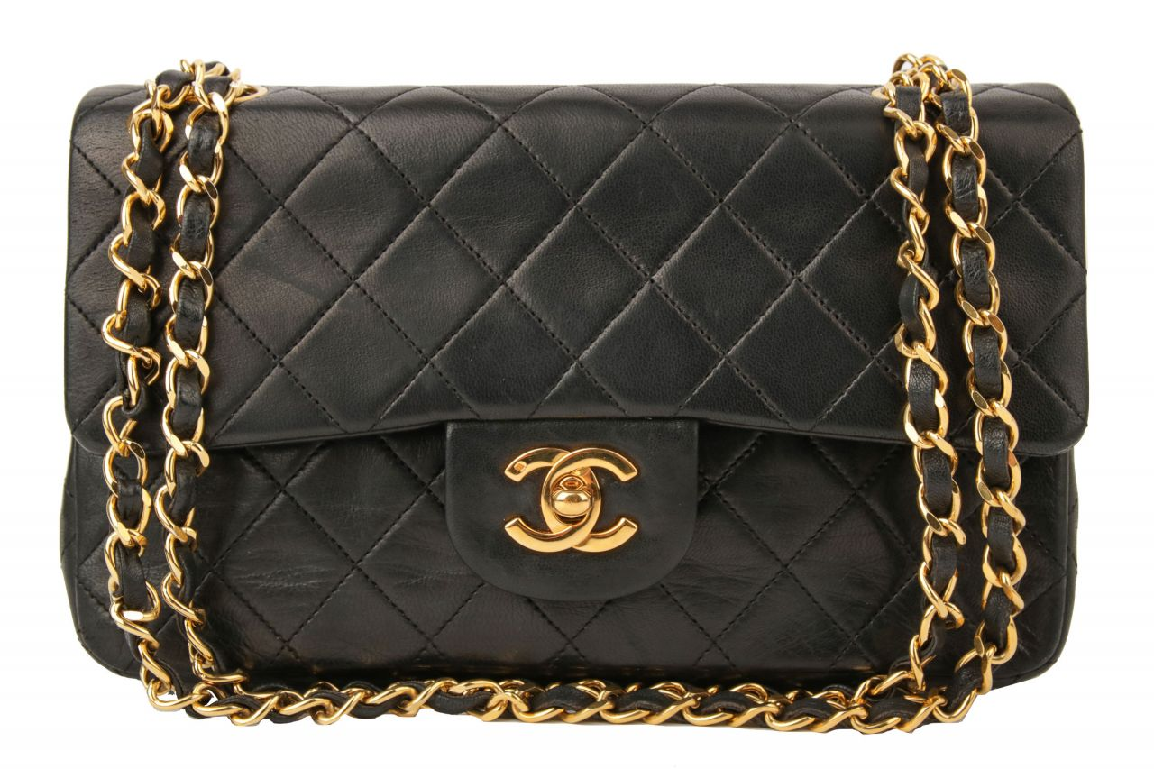Chanel Timeless Double Flap Bag Small Schwarz