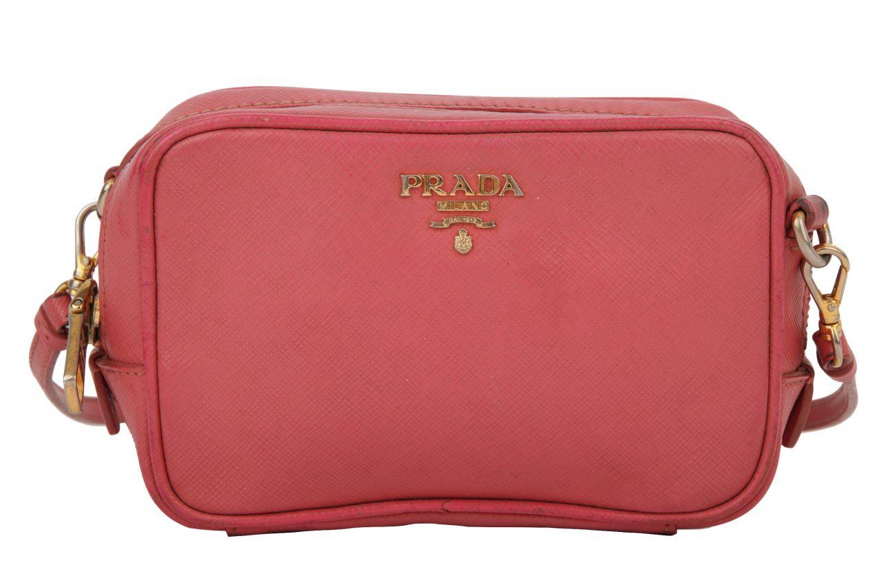 Prada Umhängetasche Saffiano Leder Pink