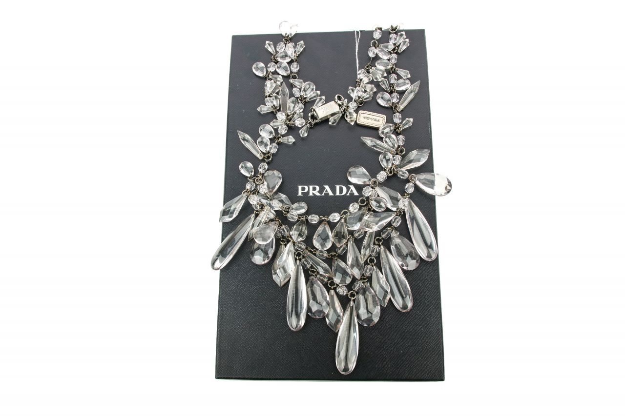 Prada Statement Kette Transparent