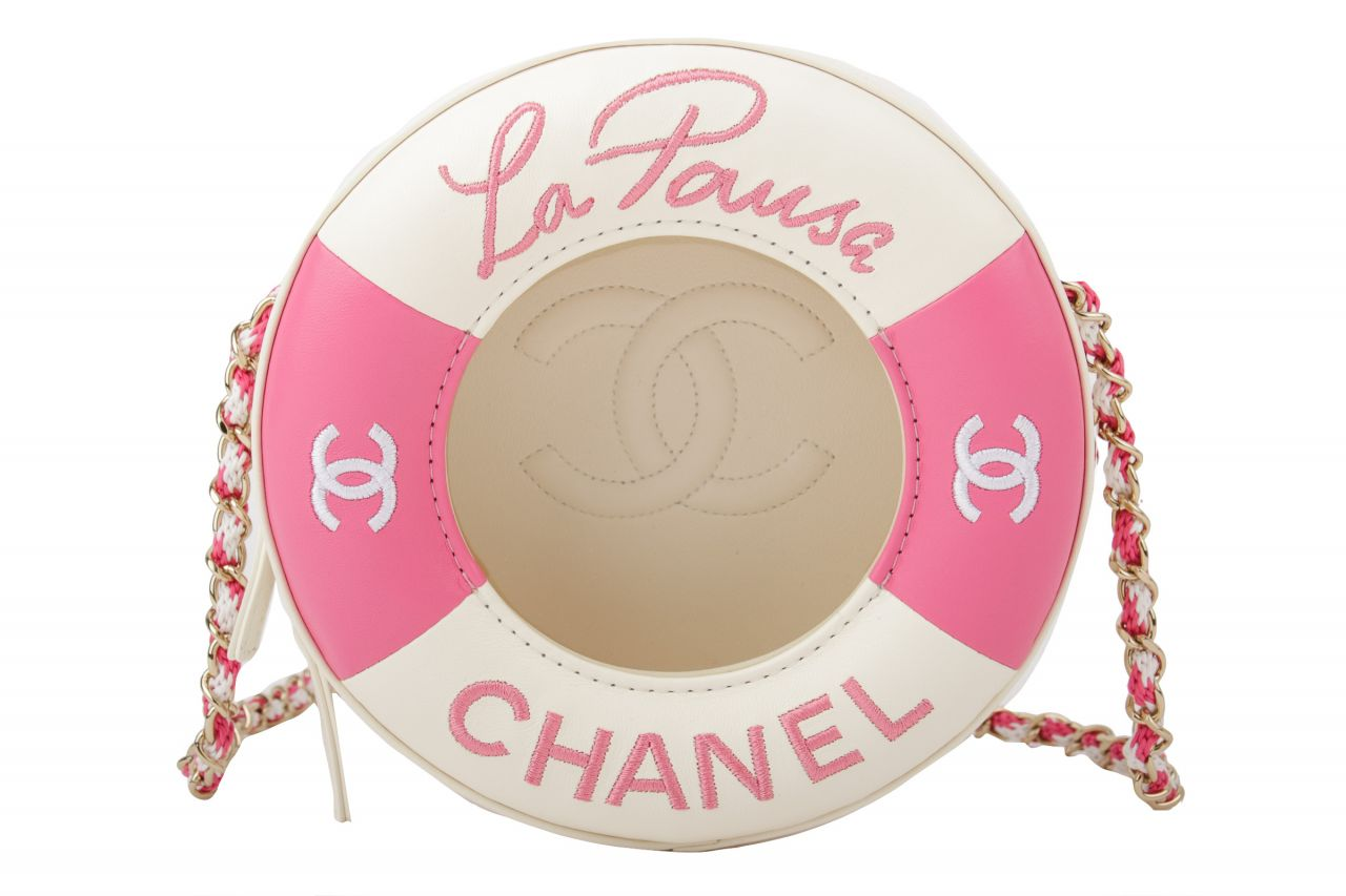 Chanel Round Limited Edition Cruise 2019 La Pausa Pink/Creme