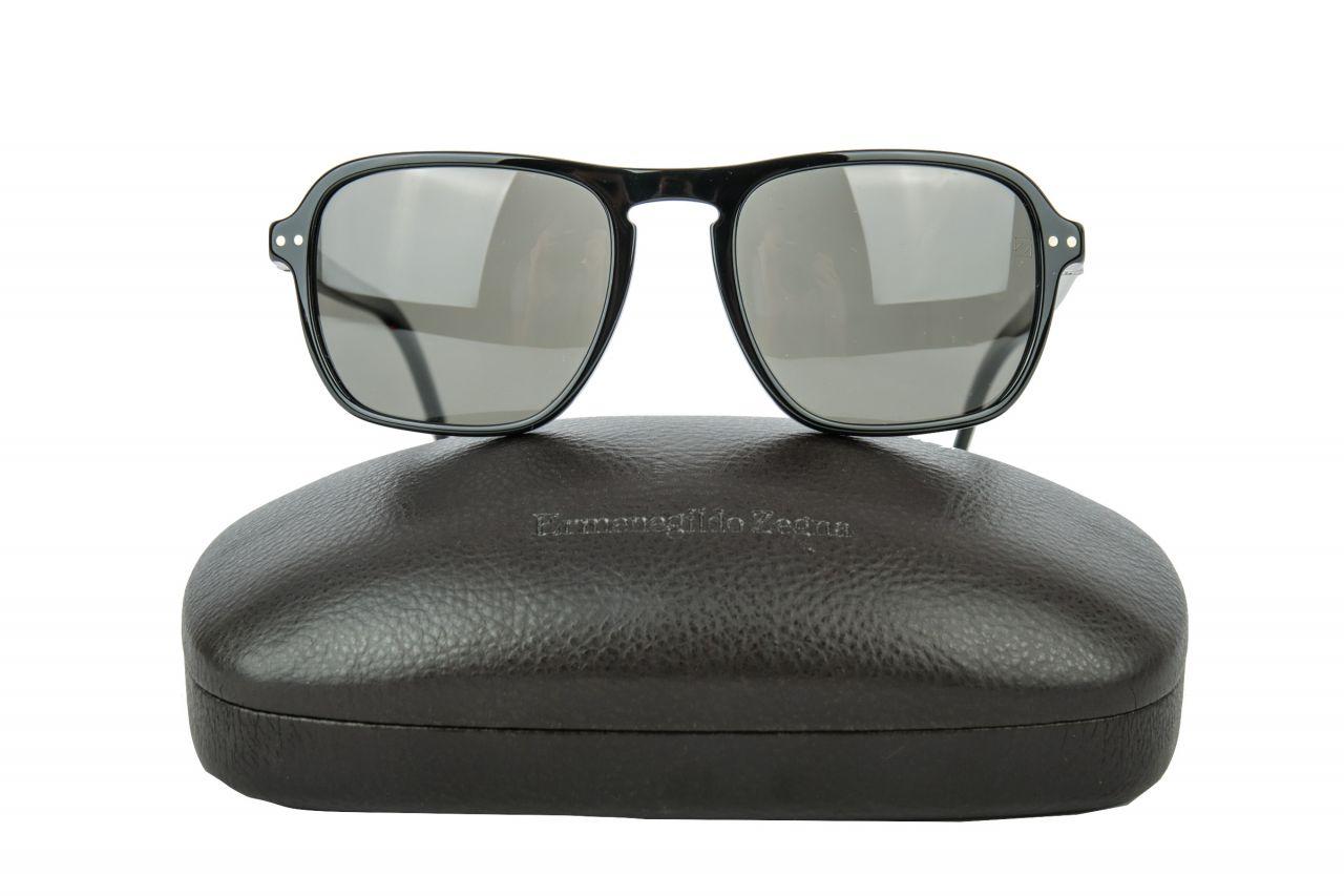 Ermenegildo Zegna Sonnenbrille Schwarz
