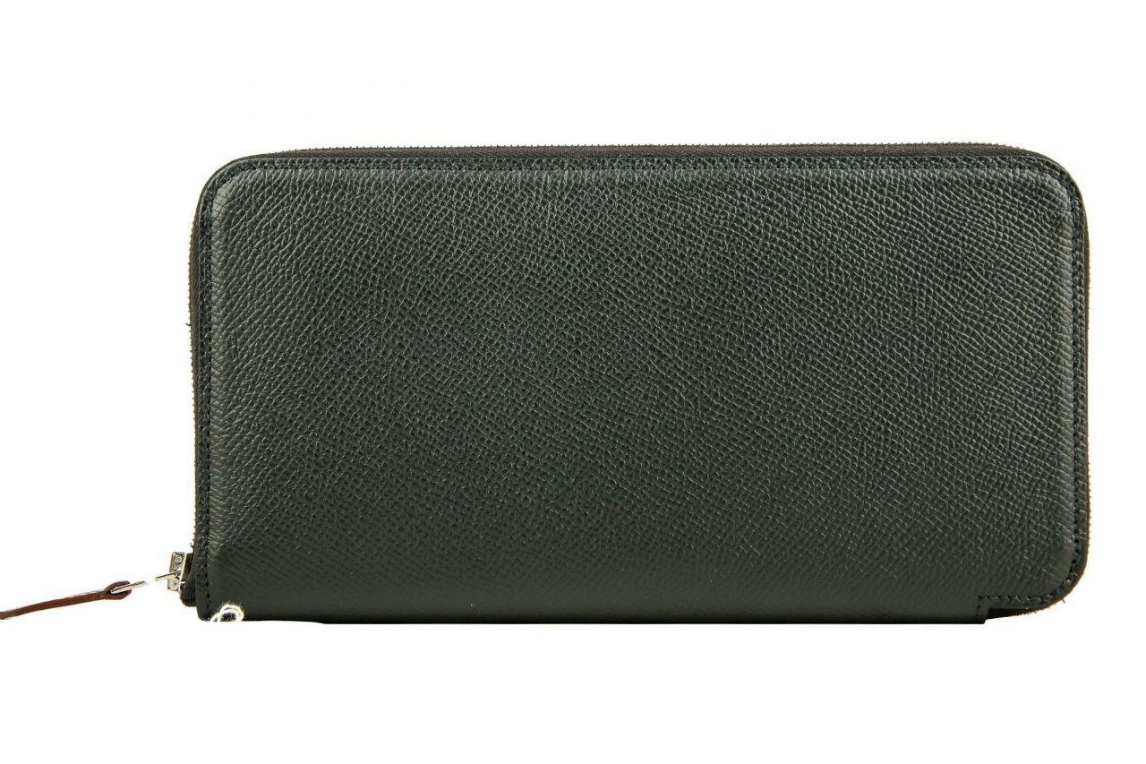 Hermès Brieftasche Silk'in Classique Schwarz