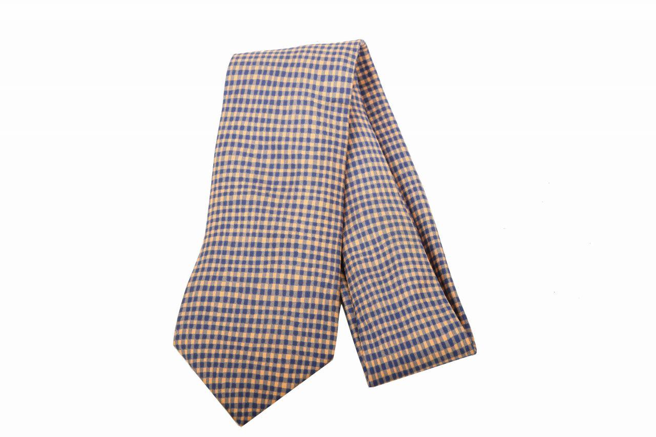 Hermès Krawatte Karo Blau