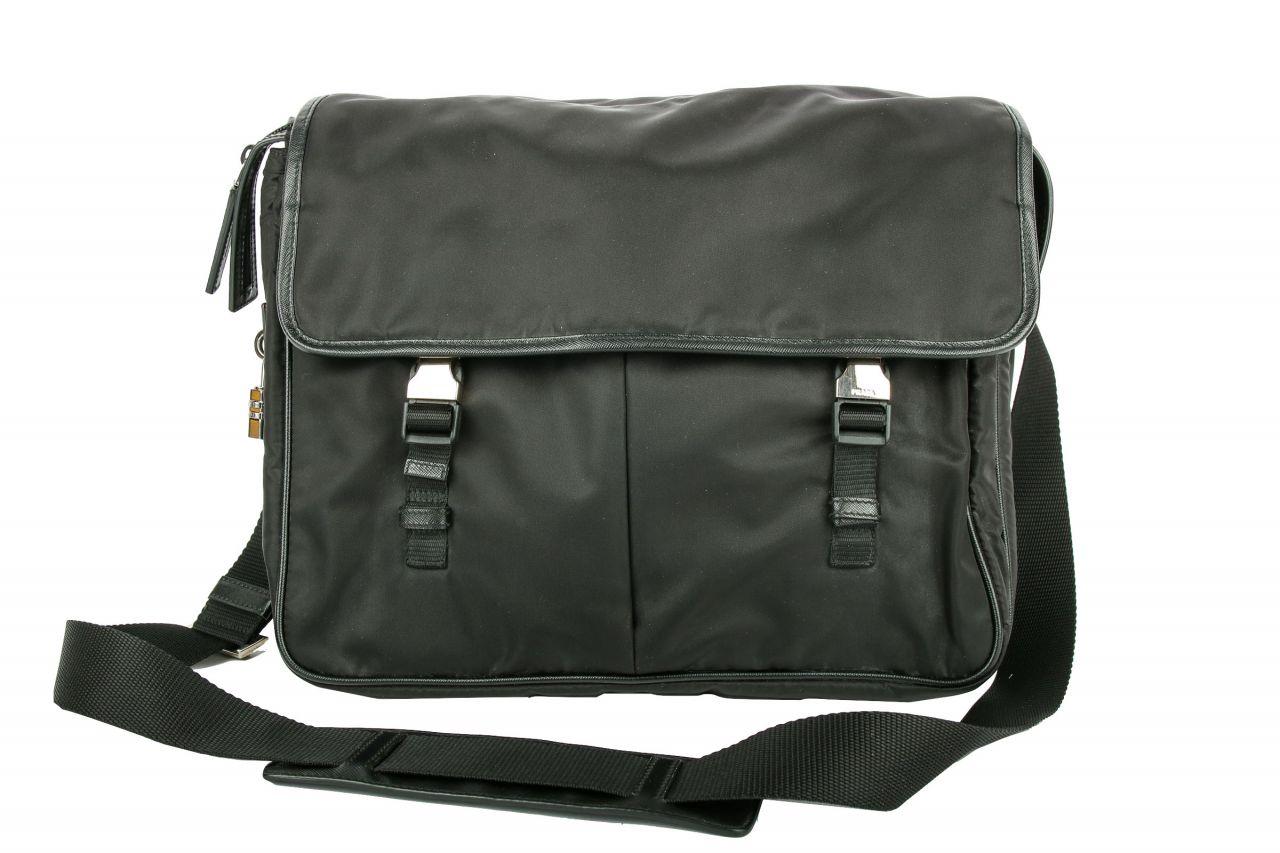 Prada Nylon Business Messenger Bag Schwarz incl. Laptoptasche