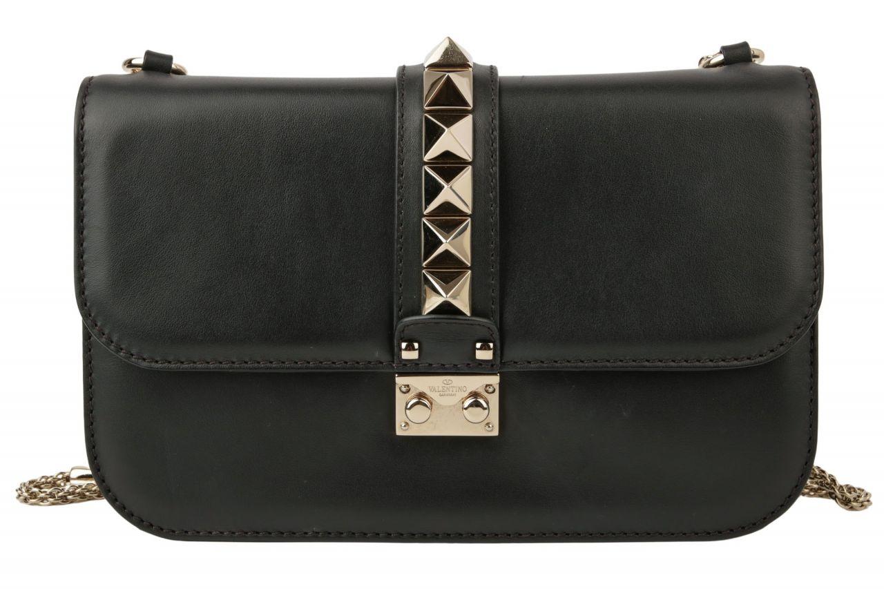 Valentino Glam Lock Bag Medium Schwarz