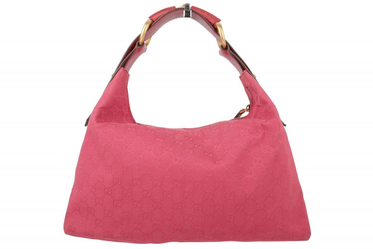 Gucci Horsebit Hobo Bag Guccissima Pink