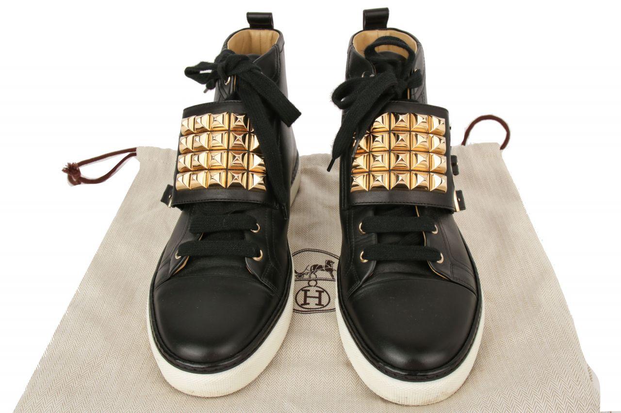Hermès Sneaker Nieten Schwarz Gr. 40