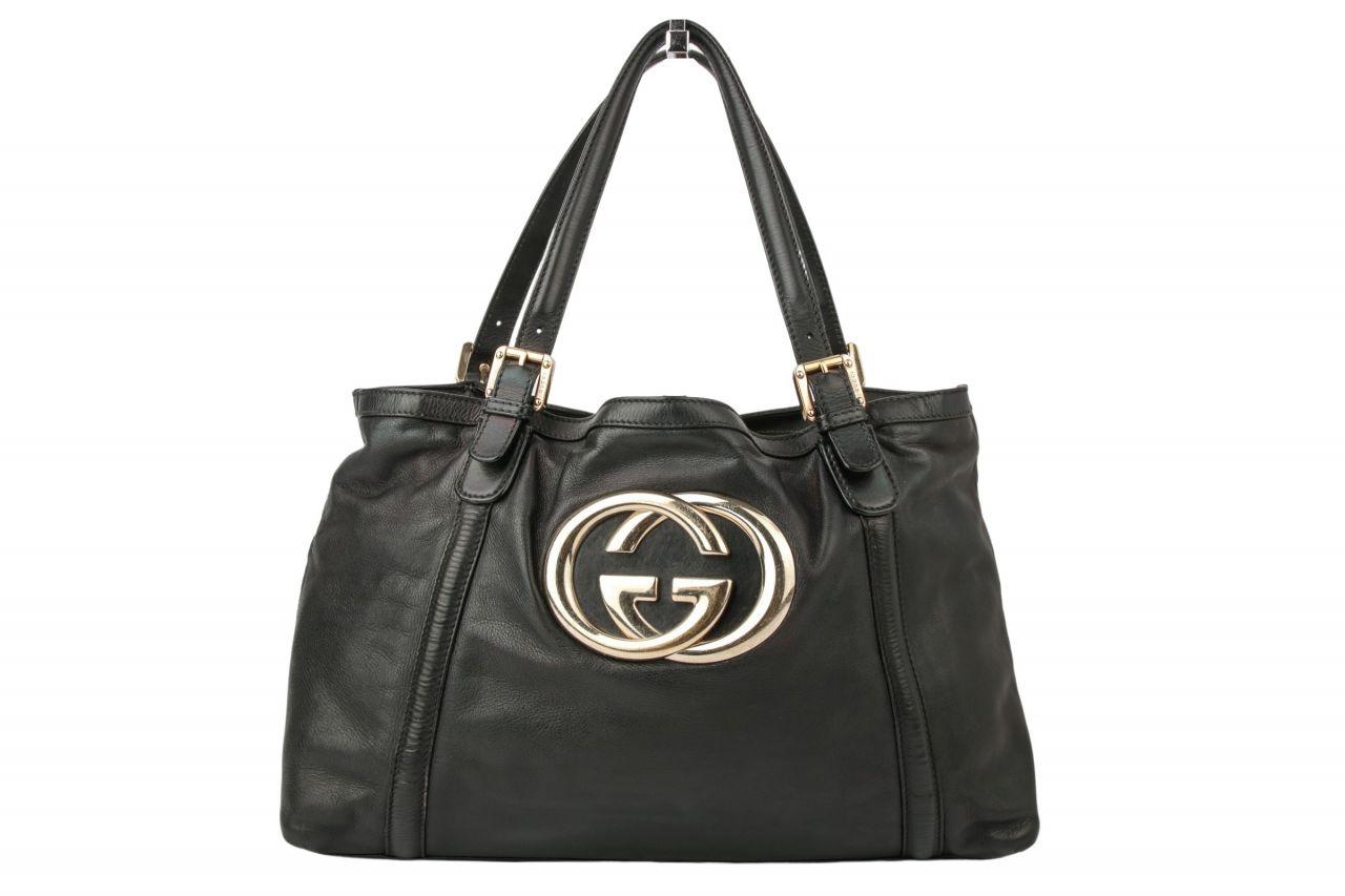 Gucci Shoulder Bag Schwarz mit GG