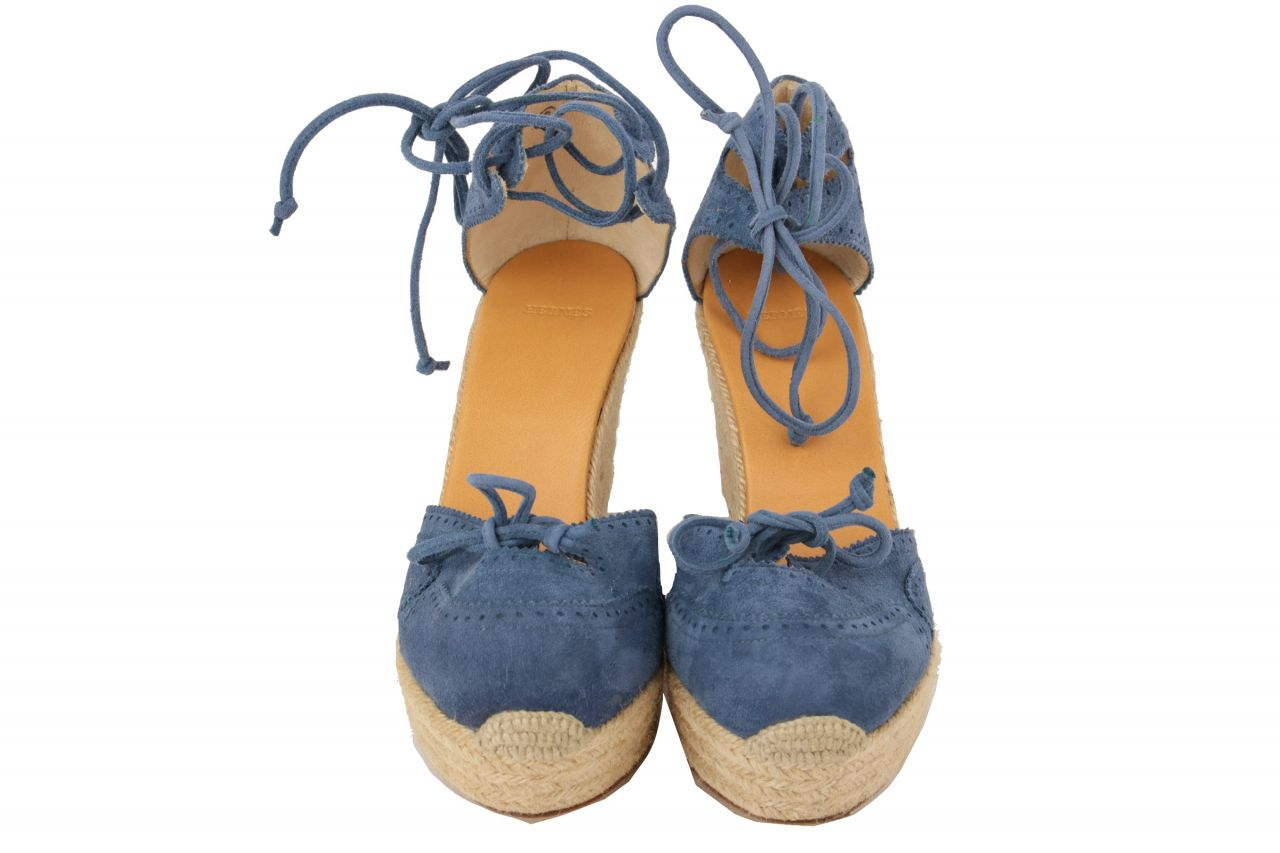 Hermès Wedges Blau Gr. 40
