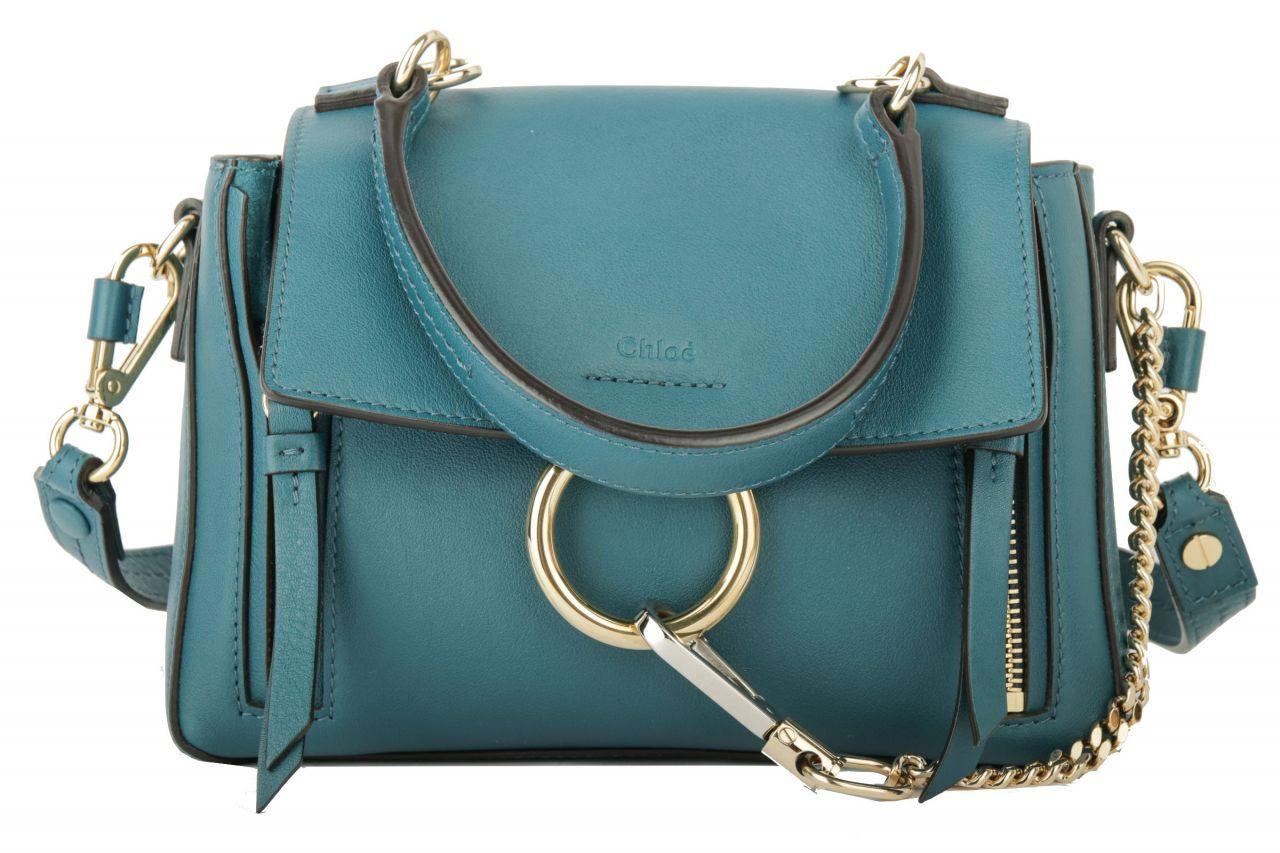 Chloé Faye Crossbody Bag Petrol