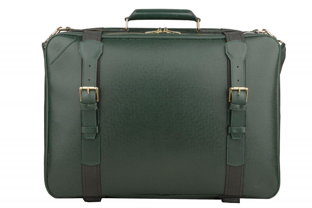 Louis Vuitton Satellite 53 Taiga Leder Deep Green
