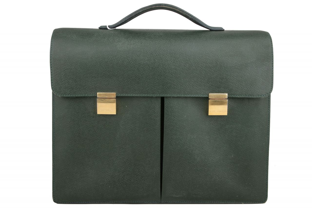 Louis Vuitton Khazan Taiga Episea Business Bag Green