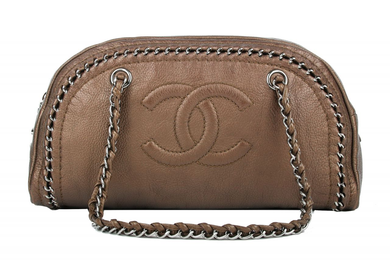 Chanel Shopper Metallic Braun
