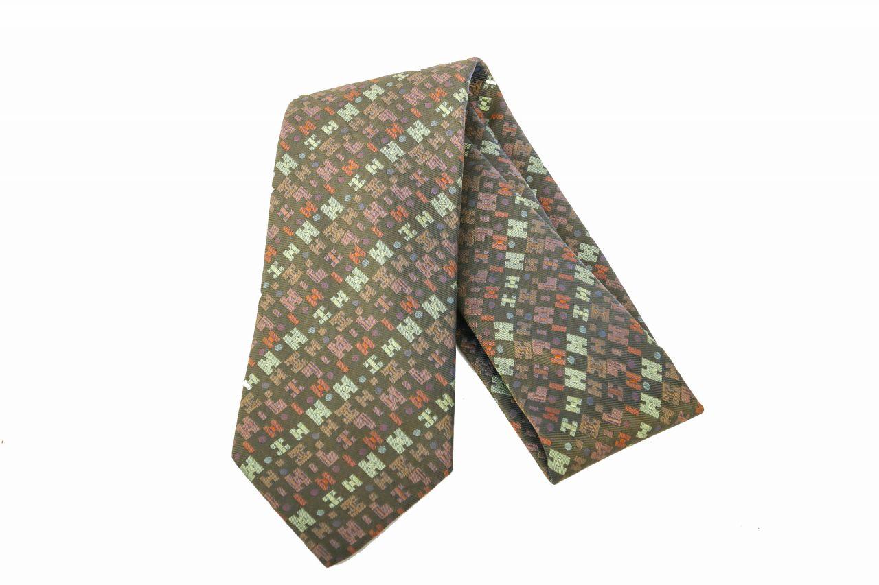 Hermès Krawatte Musterung Grün
