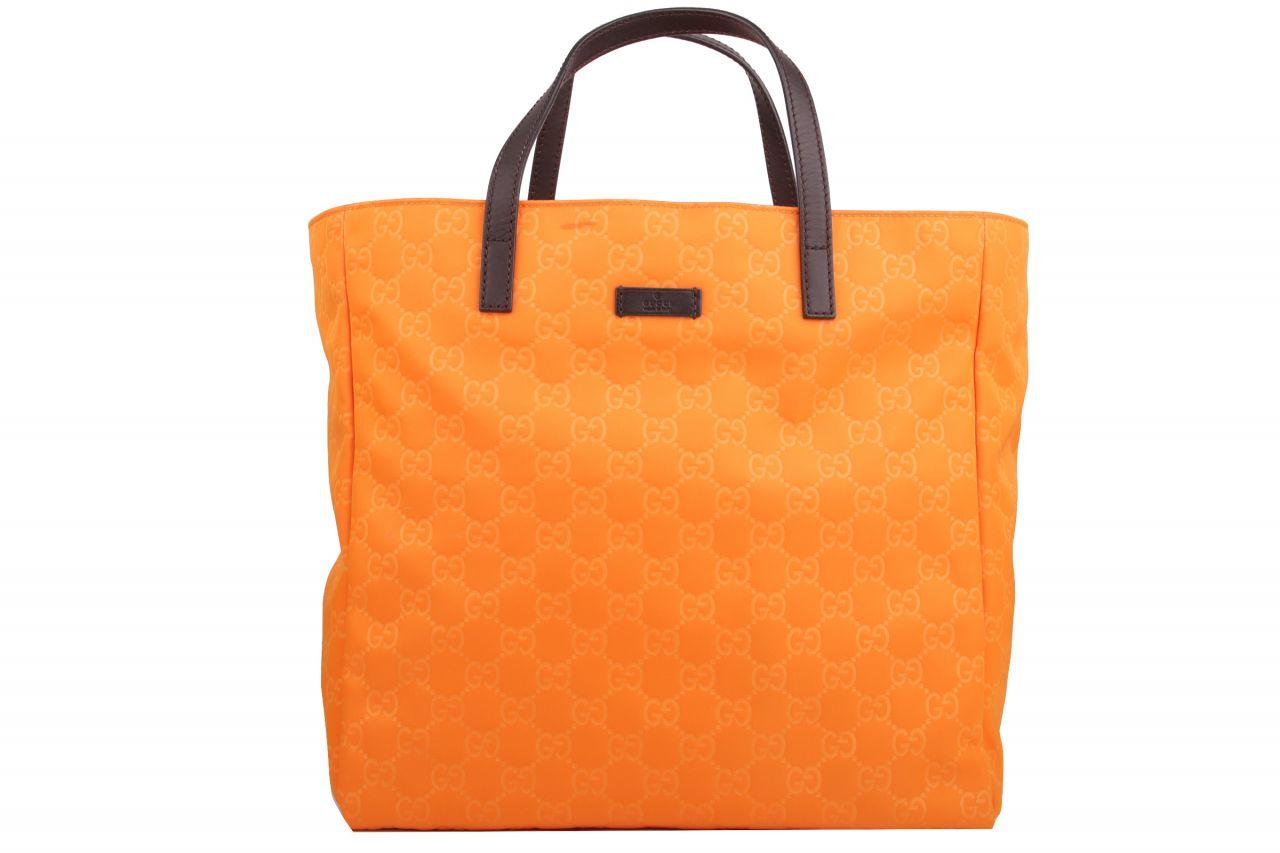Gucci Guccissima Nylon Shopper Orange