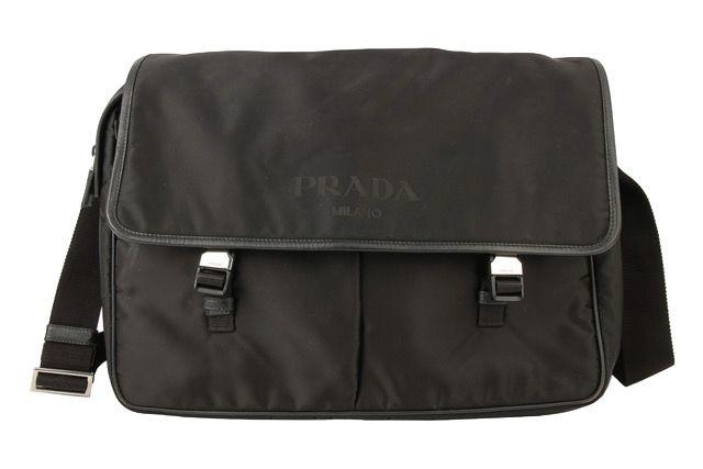 Prada Messenger Bag Nylon Schwarz