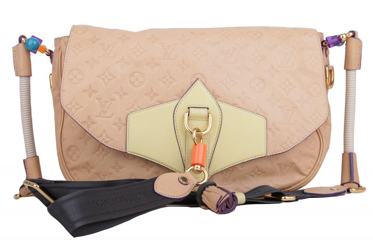 Louis Vuitton Limited Edition Underground Messenger Bag Monogram Empreinte Beige