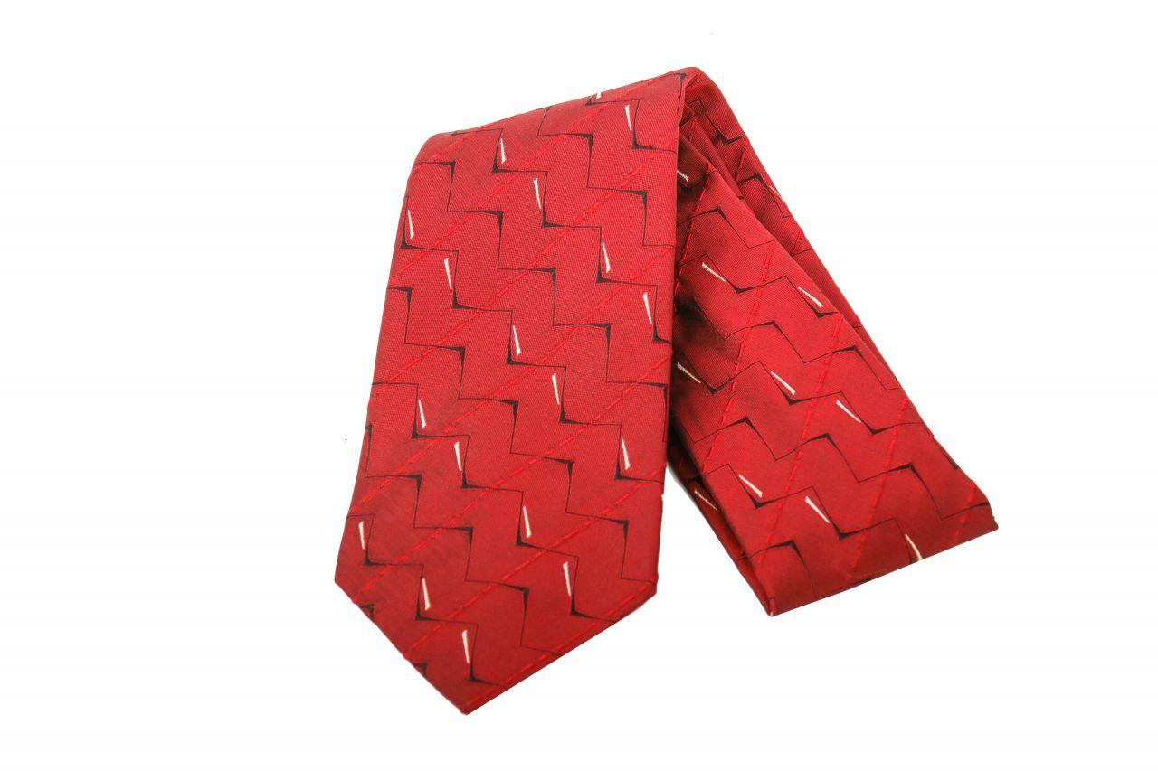 Hermès Krawatte Weinrot
