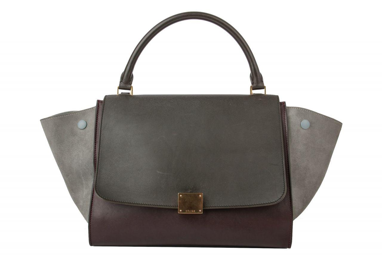 Céline Trapez Bag Medium Tricolor