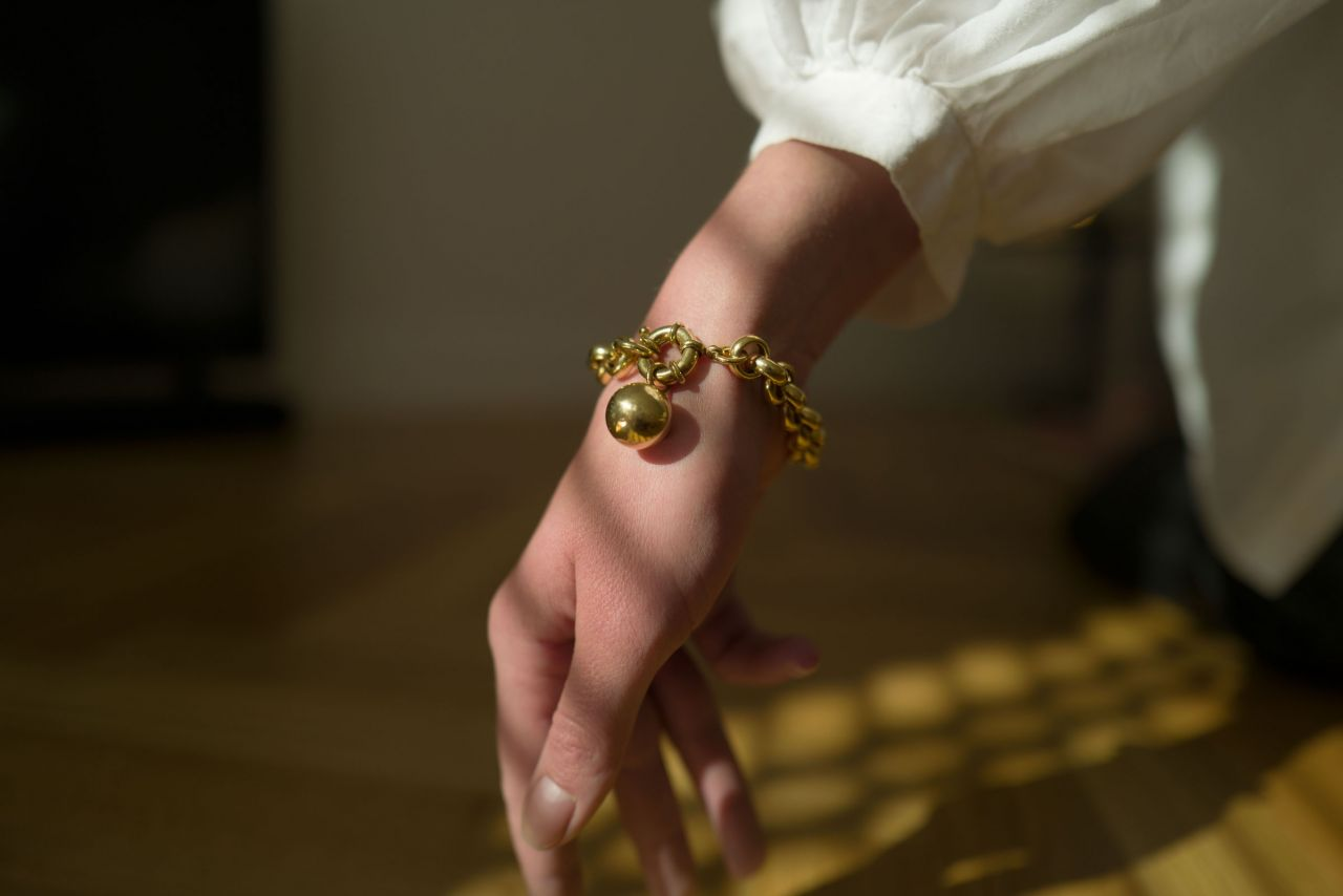 Kugelanhänger Gold