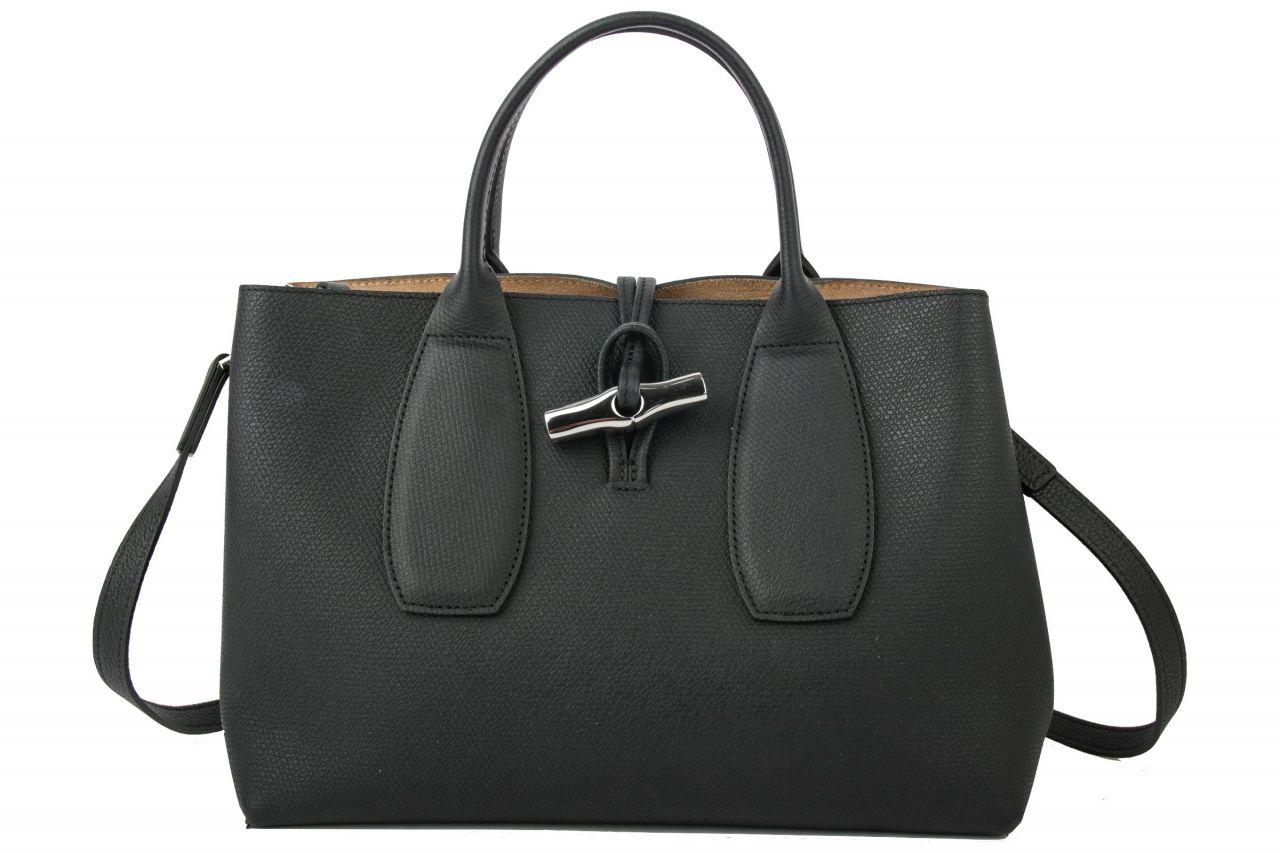 Longchamp Roseau M Handtasche Schwarz
