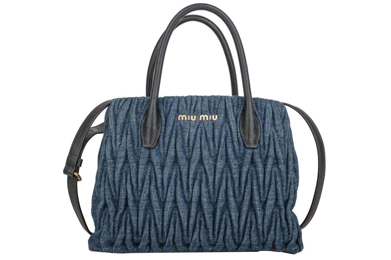 Miu Miu Handtasche Matelassé Denim