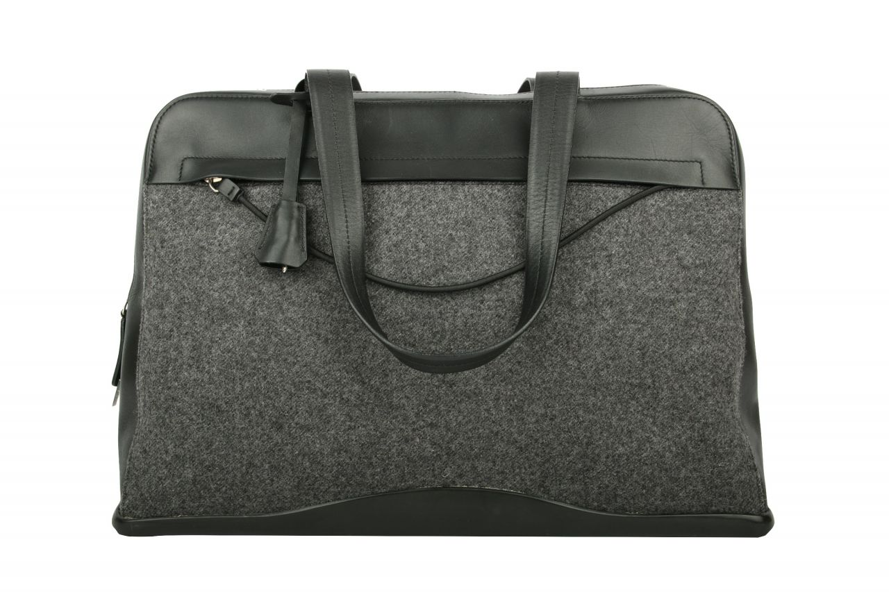 Prada Business Bag Black Leather / Felt