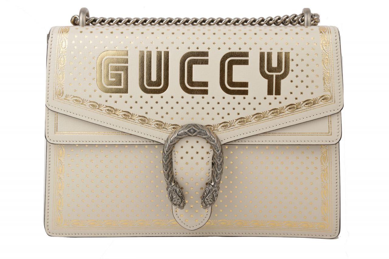 Gucci Dionysus Shoulder Bag White / Gold