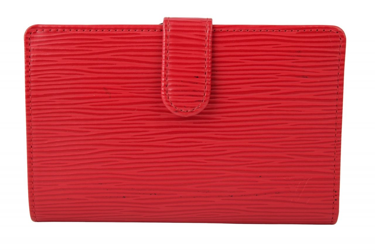 Louis Vuitton Portemonnaie Epi Leder Rot