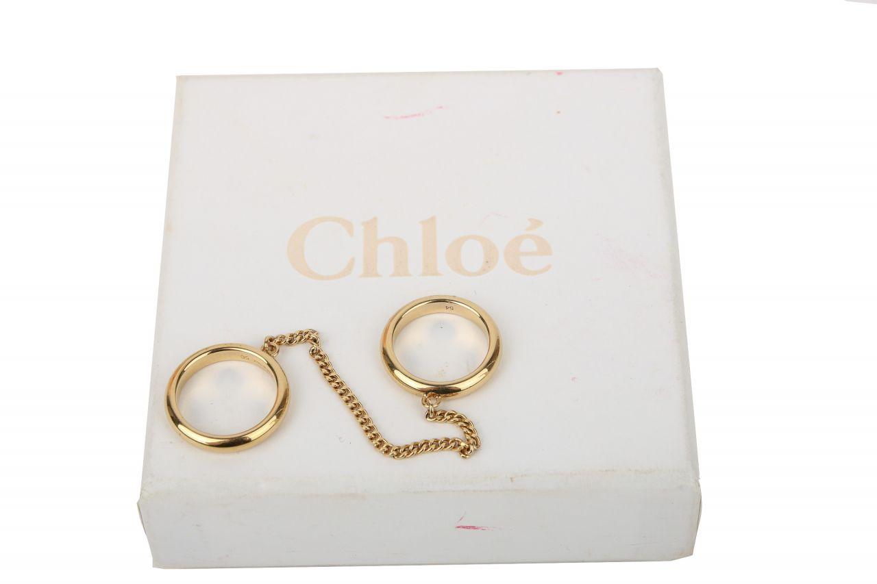 Chloé Ringe Gold mit Kette