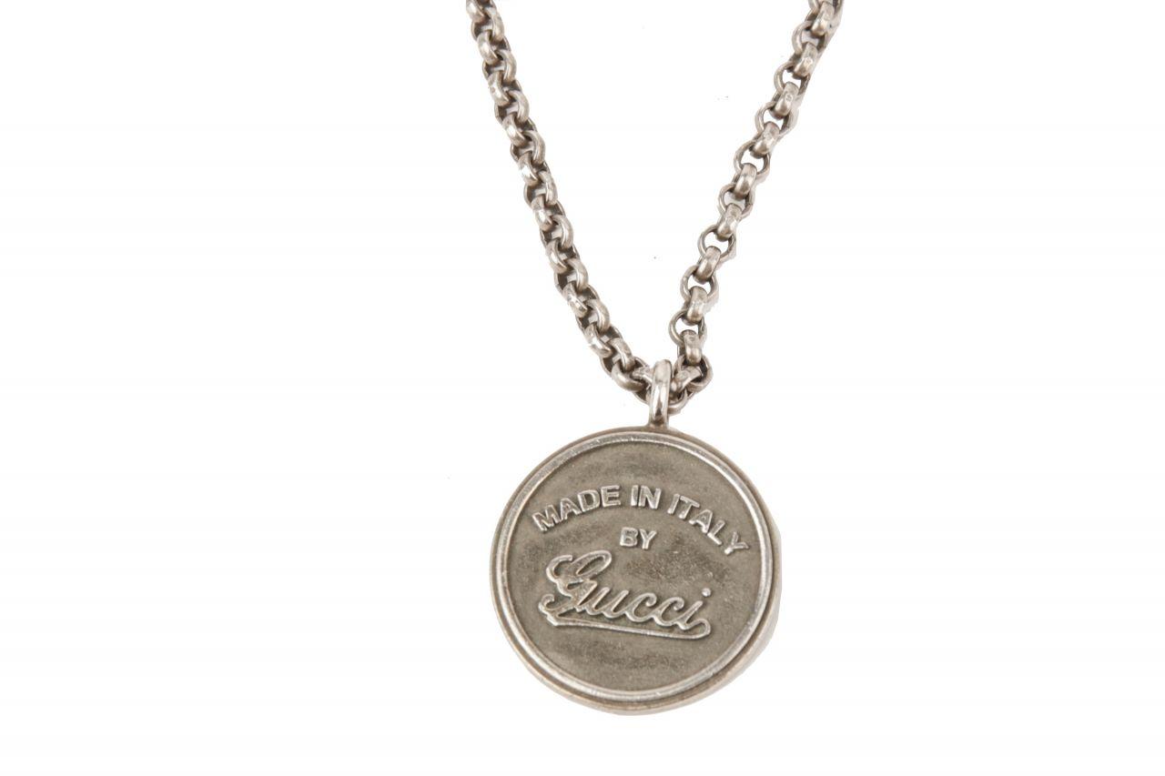 Gucci Münze Kette Silber