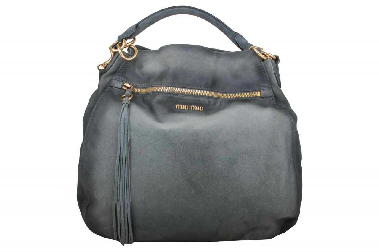 Miu Miu Hobo Bag Grey