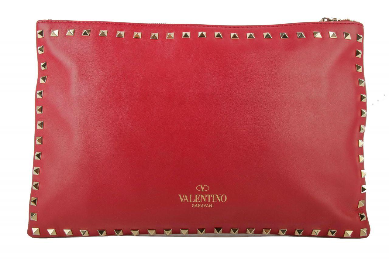Valentino Clutch Rockstud Rot