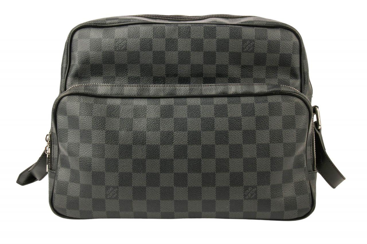 Louis Vuitton Leoh Umhängetasche Damier Graphite Canvas