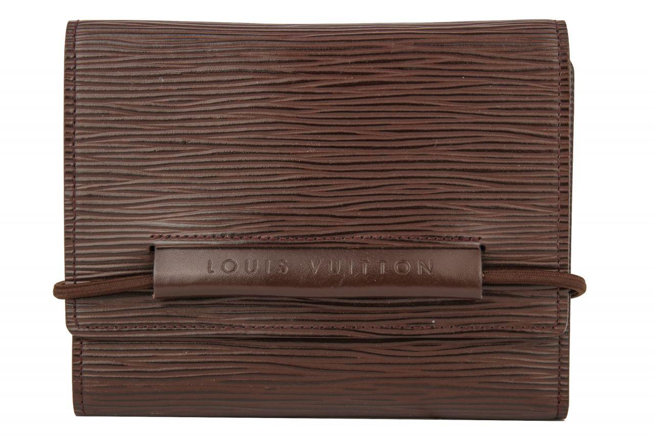 Louis Vuitton Portefeuille Elastic Epi Leder Braun