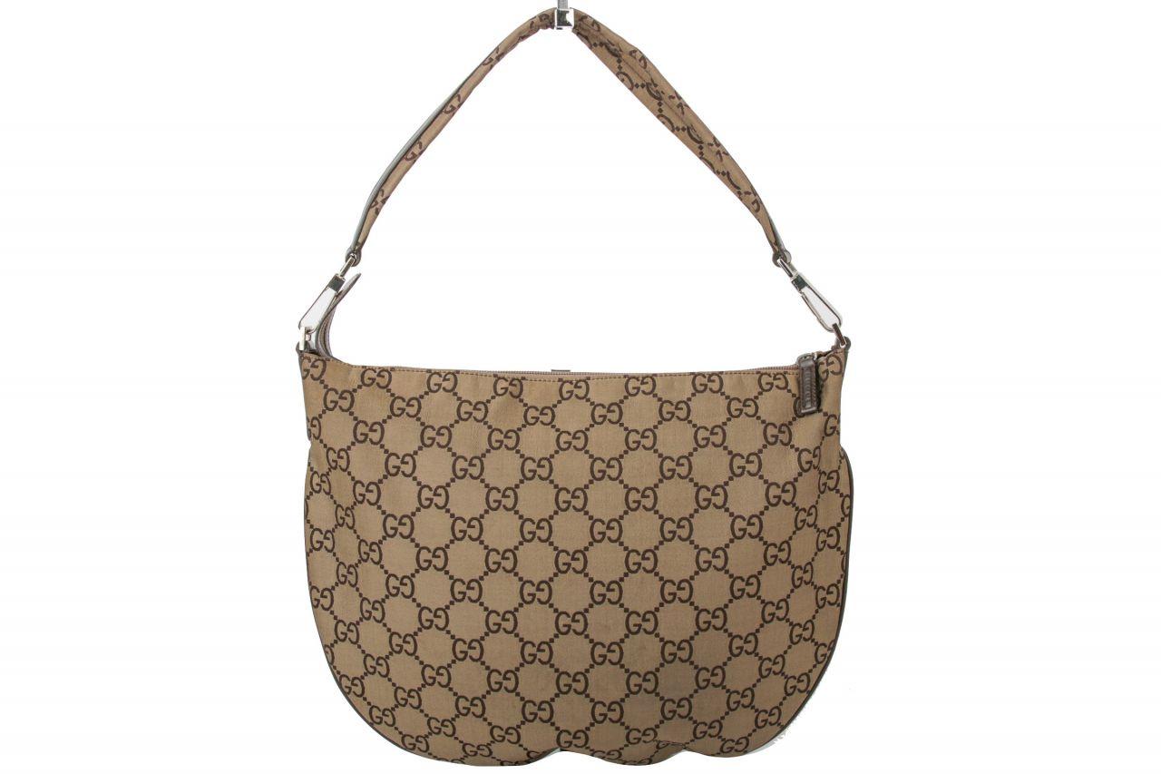 Gucci Guccissima Hobo Shoulder Bag Beige/ Braun