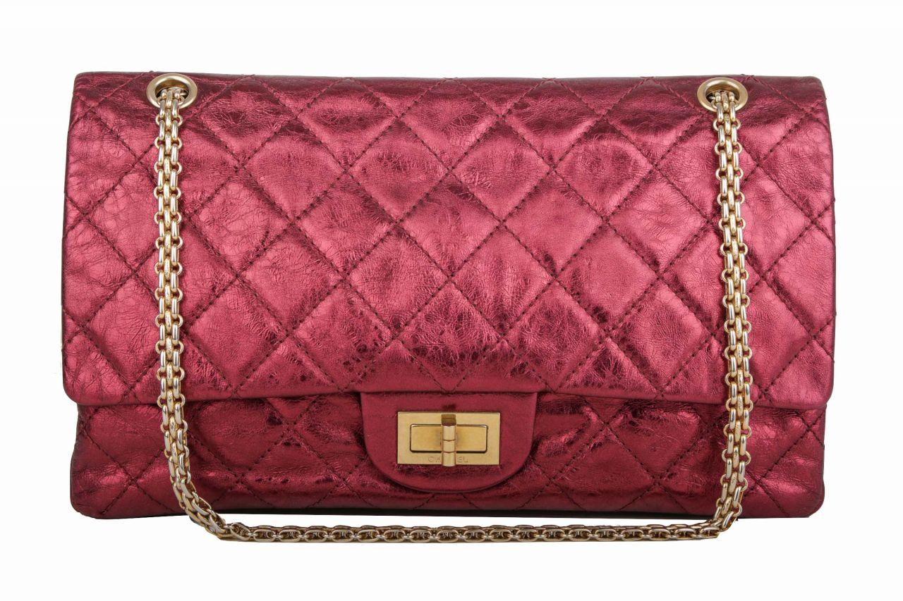 Chanel 2.55 Jumbo Bag Metallic