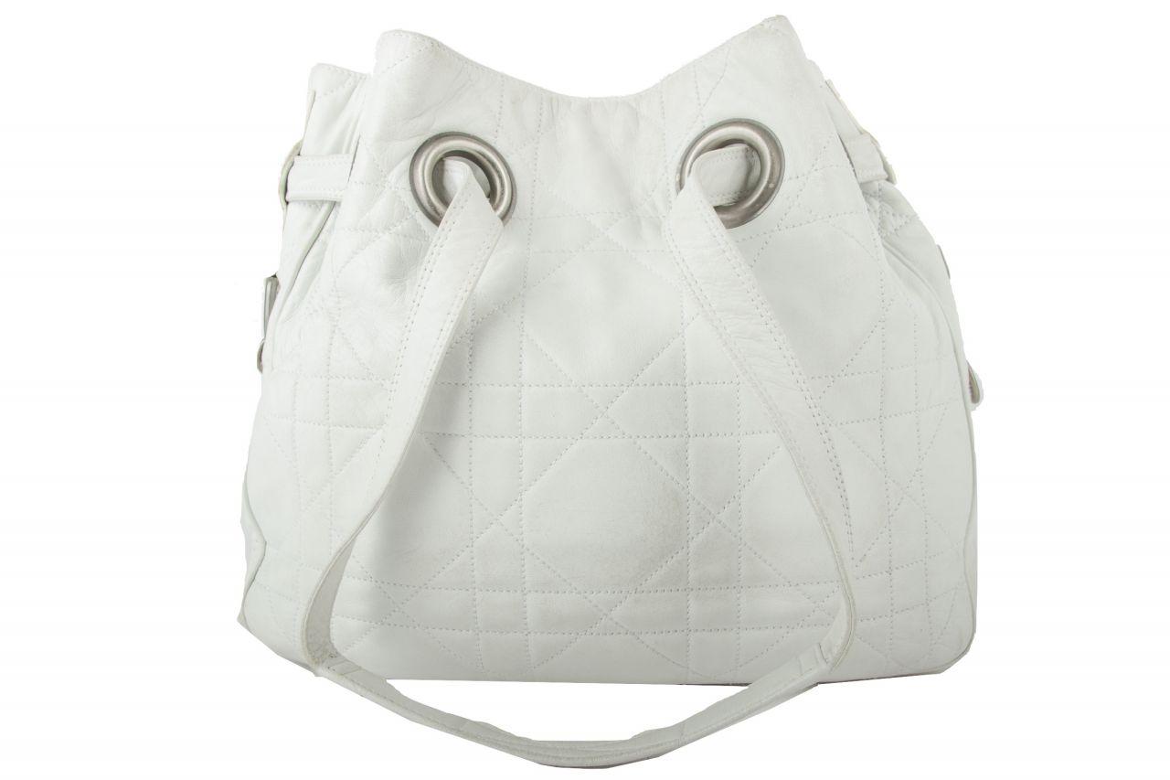 Dior Lady Dior Schultertasche Weiß