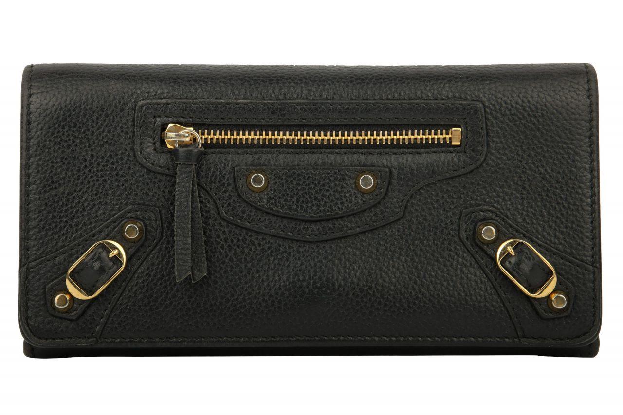 Balenciaga Classic Continental Wallet Schwarz
