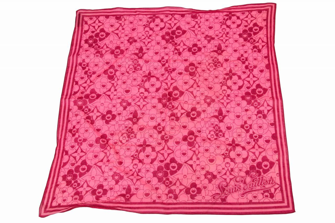 Louis Vuitton Murakami Cosmic Scarf Pink