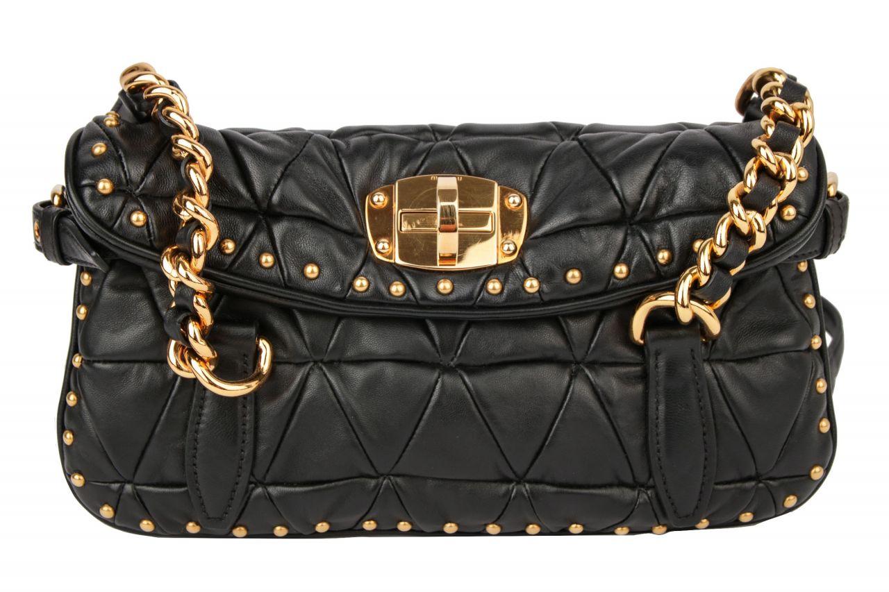 Miu Miu Shoulder Bag Black