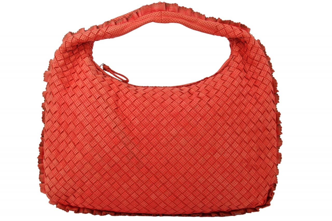 Bottega Veneta Nappaleder Small Rot Orange